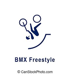 BMX Freestyle pictogram, new sport icon.
