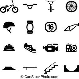 BMX Icons - This image is a illustration and can be scaled...