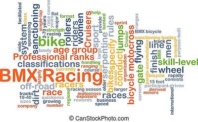 BMX racing background concept