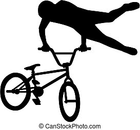 BMX ride stunt