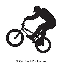 BMX Rider - An abstract vector illustration of a BMX rider ...