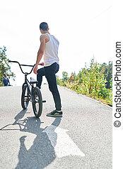 BMX Rider on Hill