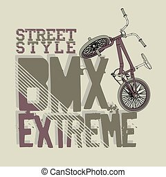 BMX Riding vector Typography - BMX Riding Typography...