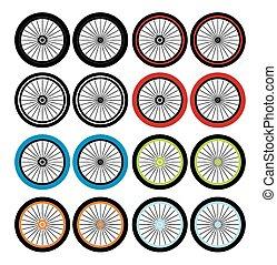 bmx, -, ruedas, conjuntos