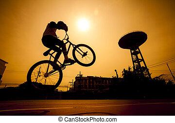Bmx Silhouette Jump