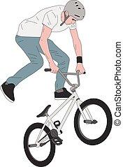 bmx stunt bicyclist illustration