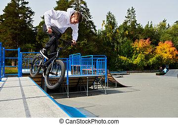 BMX Stunt on Ramps