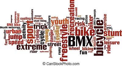 BMX word cloud