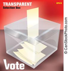 boîte, élection, -transparent