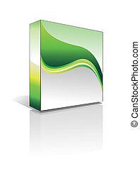 boîte, 3d, logiciel