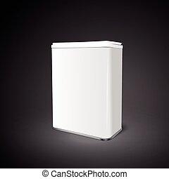boîte, aluminium, vide