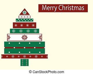 boîte, arbre, année, nouveau, vacances, noël