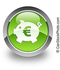 boîte, argent, lustré, (euro), icône