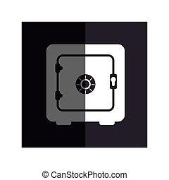 boîte, argent, sûr, icône