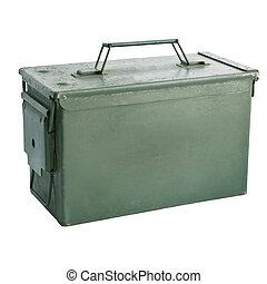 boîte, balle,  métal, vert, militaire,  iso