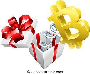 boîte, bitcoin, cric