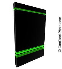 boîte, black-green, logiciel