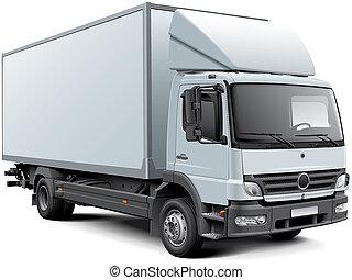 boîte, blanc, camion