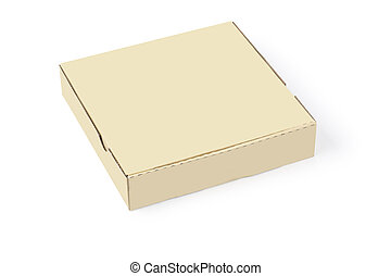 boîte, blanc, carton, isolé