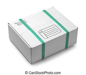 boîte, blanc, expédition