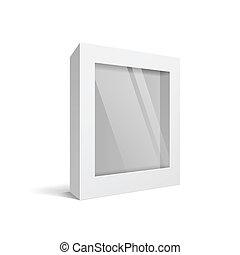 boîte, blanc, logiciel, paquet