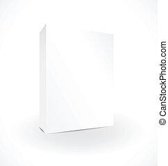 boîte, blanc, reflet, fond, vide