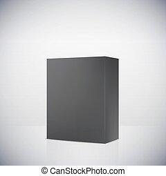boîte, blanc, vecteur, fond, vide