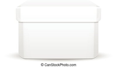 boîte, blanc, vecteur, illustration