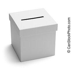 boîte, blanc, vote