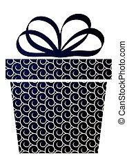 boîte, bleu, noël don, arrière-plan.