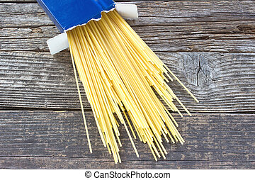 boîte, bois, carton, spaghetti, fond