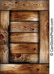 boîte bois, fragile, texture., vecteur