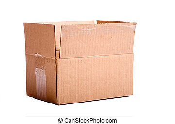 boîte, brun, carton