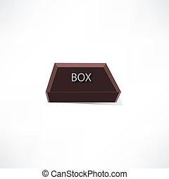 boîte, brun