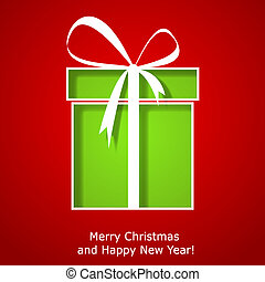 boîte, cadeau, moderne, salutation, noël, noël carte