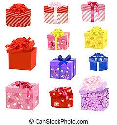 boîte, cadeau, paquets