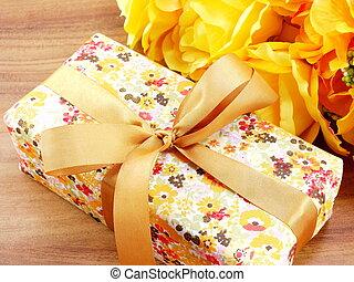 boîte, cadeau, présent