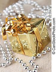 boîte, cadeau, présent noël