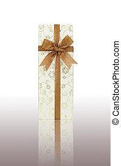 boîte, cadeau, ruban