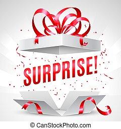 boîte-cadeau, surprise