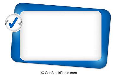 boîte, cadre, texte, résumé, entrer, chèque