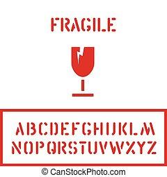 boîte, cargaison, carton, gobelet, timbre, logistique, fragile, caisse, conditionnement, verre, police, ou, icône