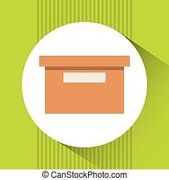boîte, carton, conception