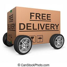 boîte, carton, gratuite, expédition
