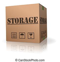 boîte, carton, stockage