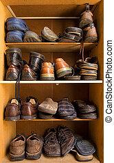 boîte, chaussures