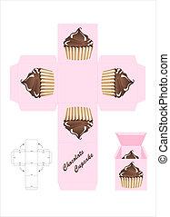 boîte, chocolat, cadeau, petit gâteau