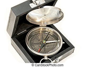 boîte, compas