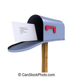boîte, courrier, 3d