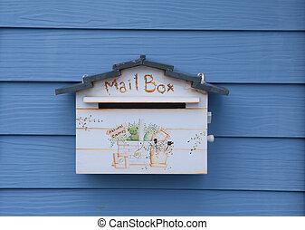 boîte, courrier, bois